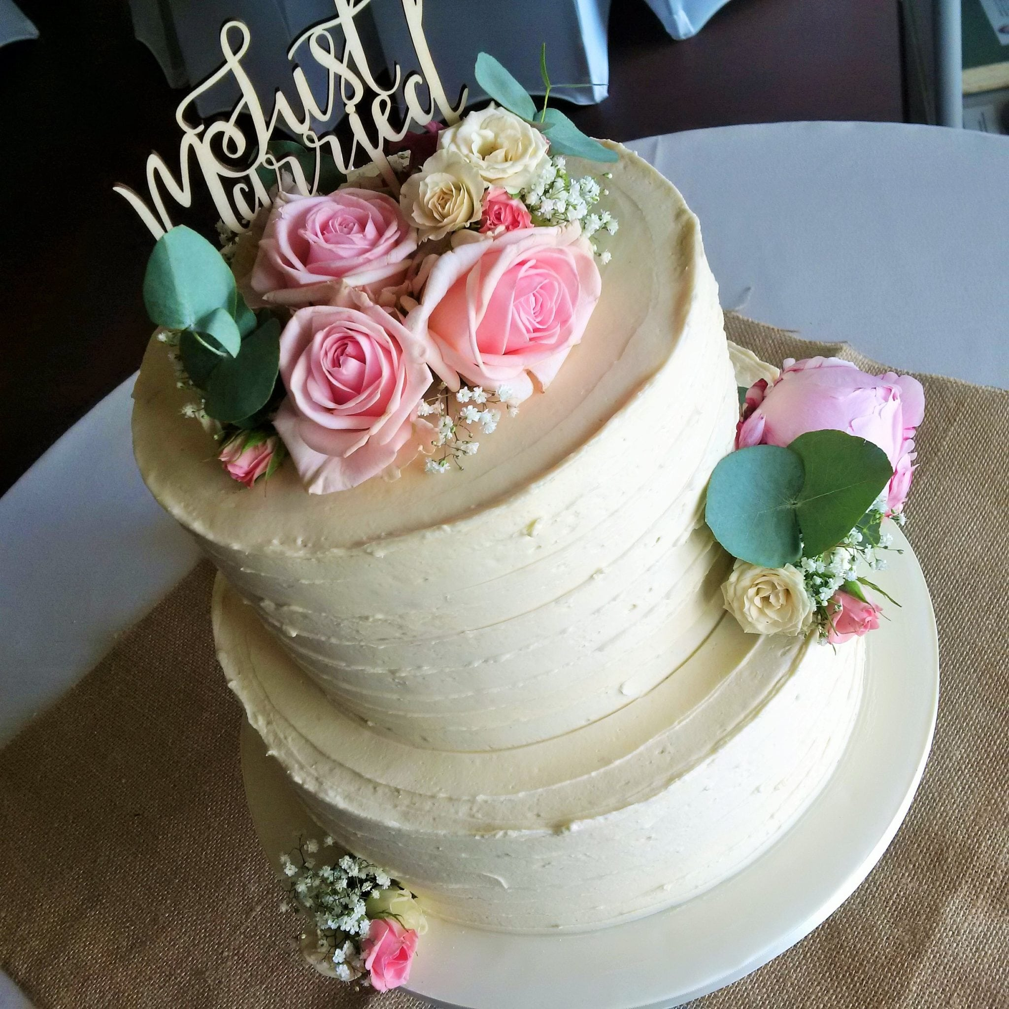 2 tier buttercream