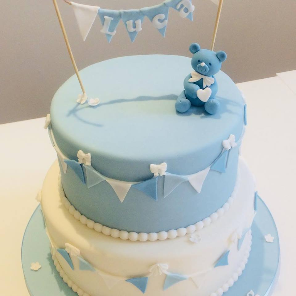 blue 2 teir christening