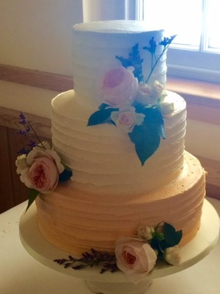 fresh floral wedding cake