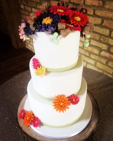 wedding cake gerbra