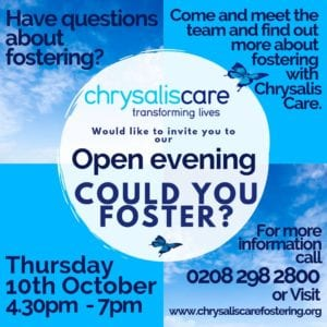 Chrysalis care Fostering London - Fostering Exhibition