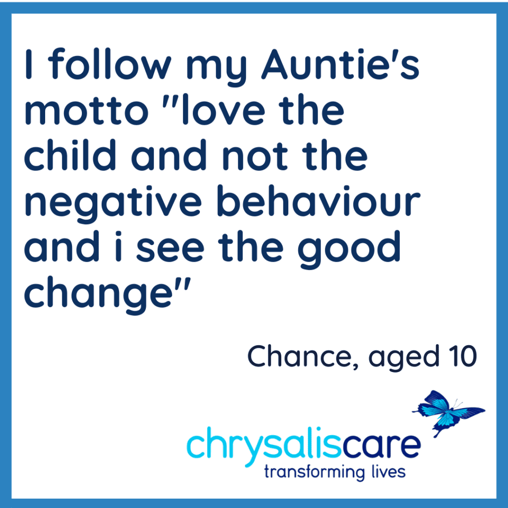 Chrysalis care Fostering London-Words from one of our children