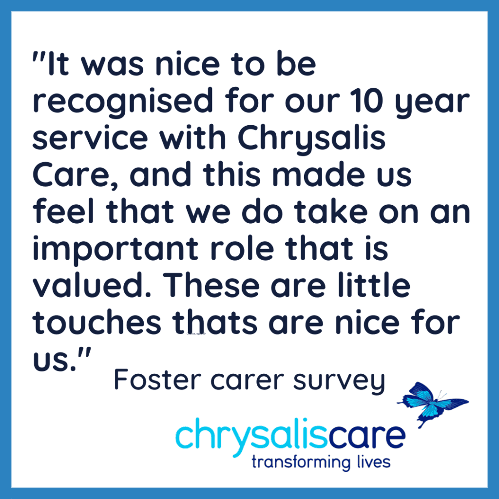 Chrysalis care Fostering London - words from our foster carer?