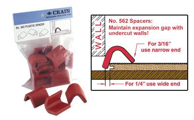 CRAIN 562 Plastic Spacers laminate and wood