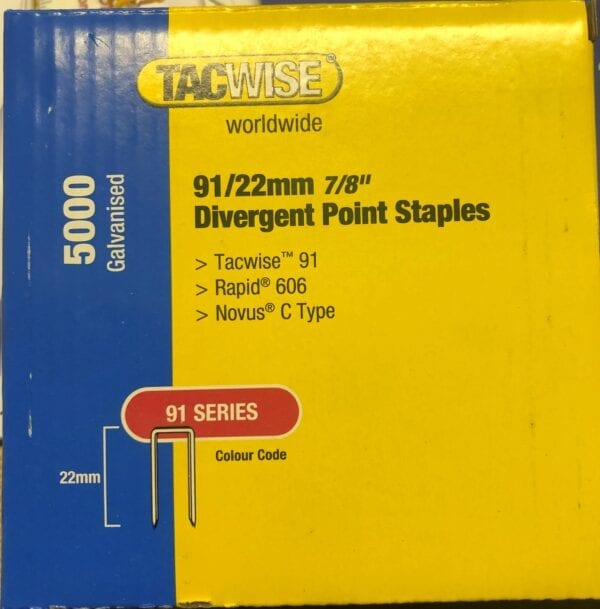 TACWISE 91 Series Staples 91 22MM