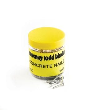 Concrete Nails 25mm 500g Tub Silver