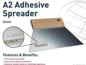 Roberts Adhesive Spreader A2 18cm