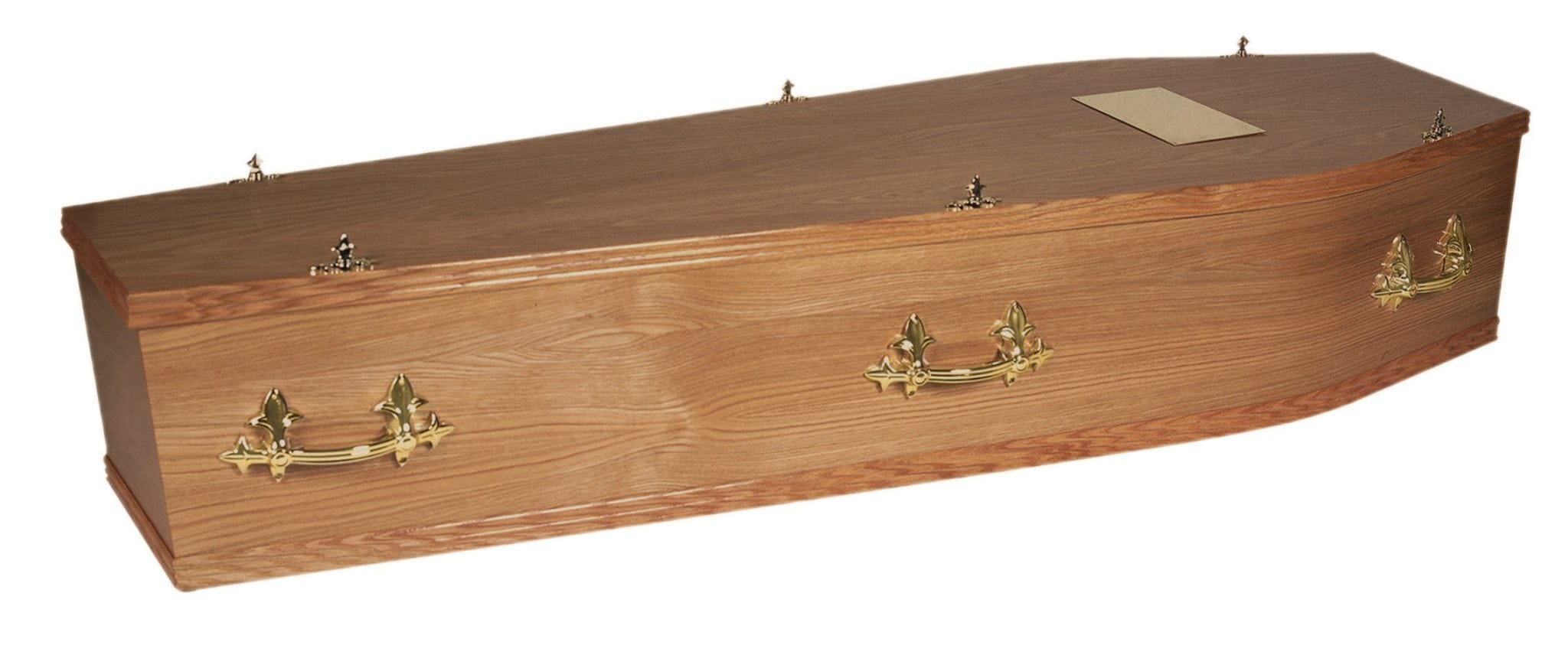 Large wooden traditional coffin