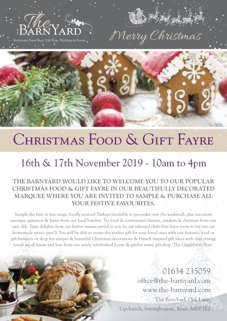 Christmas Food and Gift Fayre - 16th and 17th November 2019