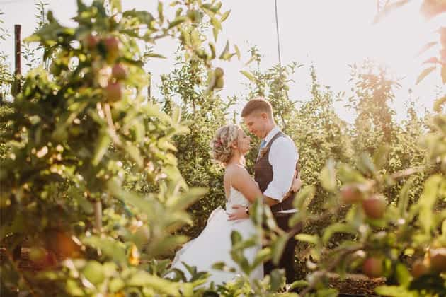 Orchard Wedding at The BarnYard