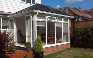 White uPVC Tiled roof conservatory