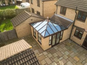 Lantern roof with ultra frame