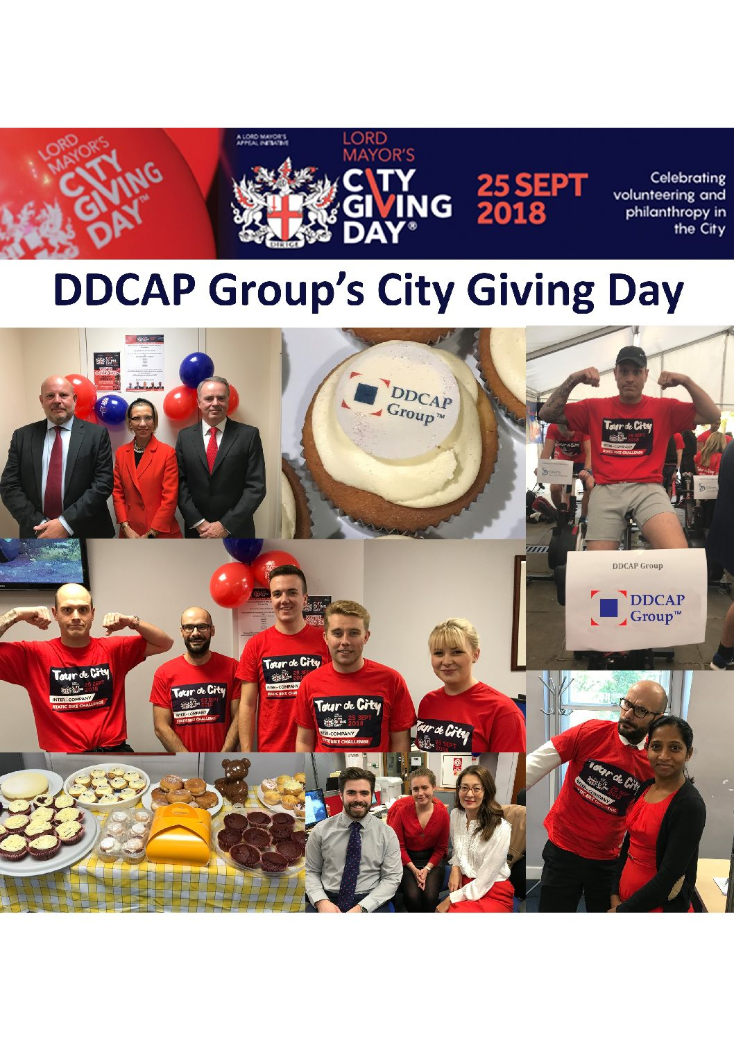 DDCAP Group were proud to support this years City Giving Day, 25th September 2018