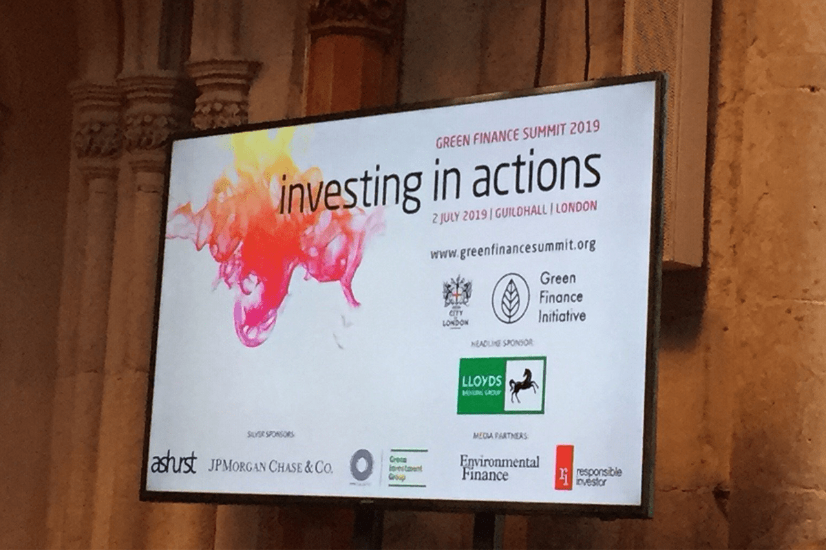Green Finance Summit 2019 – 2nd July 2019