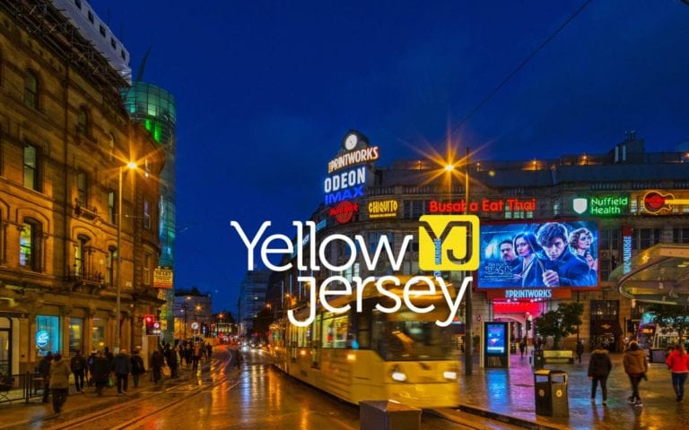 Yellow Jersey PR Logo with London background