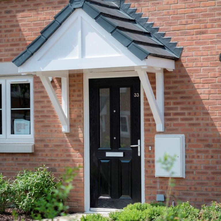 Benchmark Moorgreen Black Single Door External