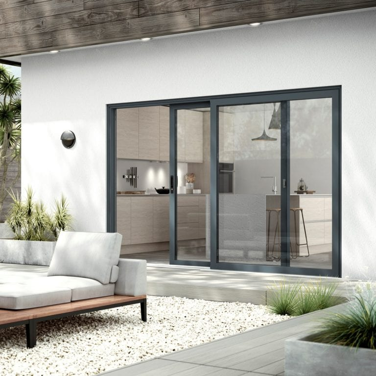 WarmCore Patio Townhouse Grey External