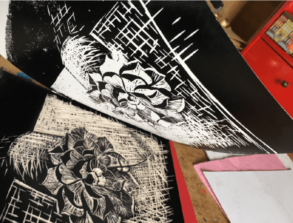 Teach Me Courses - Lino Printing Workshop Inspired by Plants