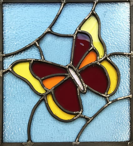 Teach Me Courses - Stained glass leaded panel 2021